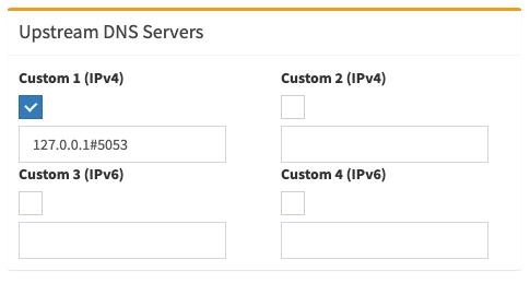 Configuración en Pi-Hole para usar el servicio de cloudflared